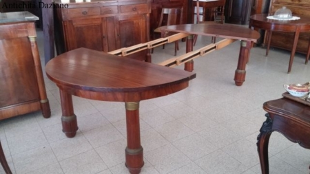 Tavolo in mogano stile Impero