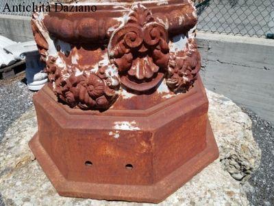Fontana in ghisa francese primi 900