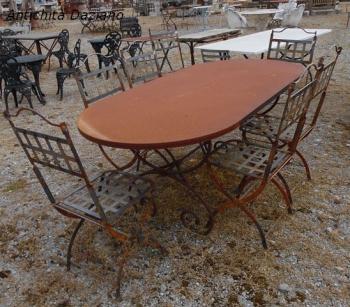 Tavolo ovale in ferro