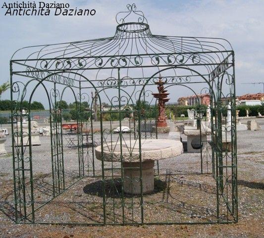 Gazebo quadrato in ferro pieno antichit daziano for Ferro tubolare quadrato prezzo