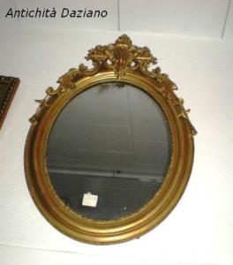 Specchio ovale epoca 800