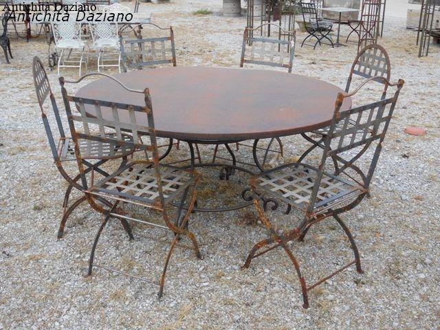 Tavolo rotondo in ferro antichit daziano for Tavolo rotondo 160
