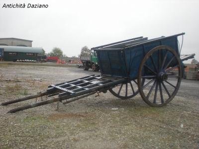 Carro legno a 2 ruote