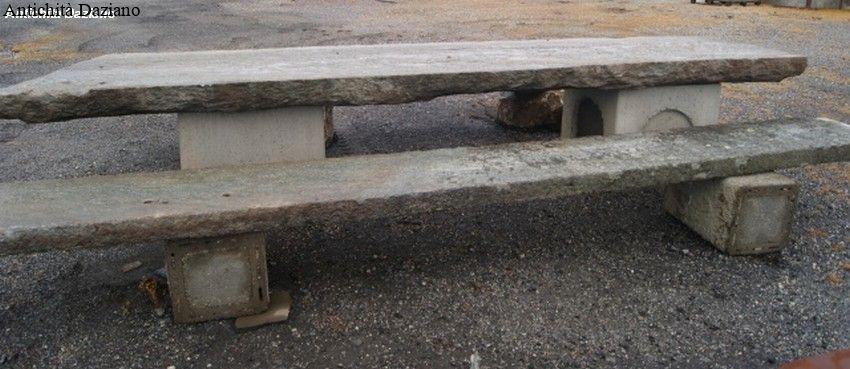Tavolo in pietra con panca | Antichità Daziano
