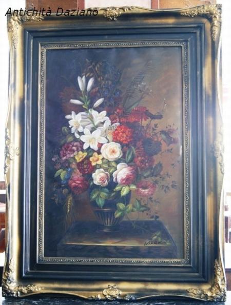 Riproduzione vaso di fiori