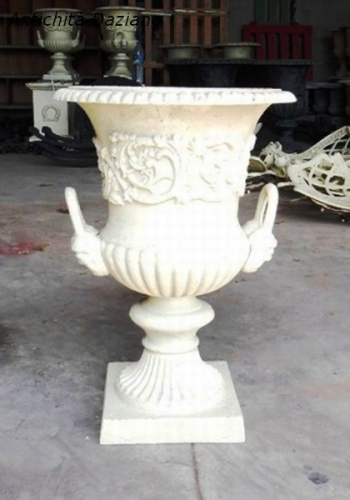 Vaso in ghisa -bianco antico
