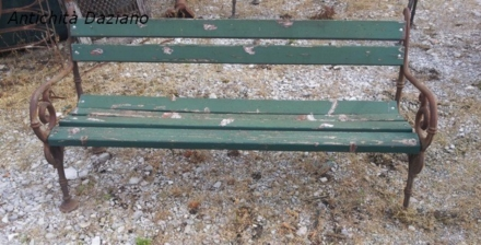 Panchina legno ghisa - vecchio Piemonte