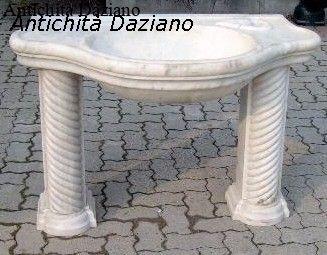 Lavabo marmo bianco