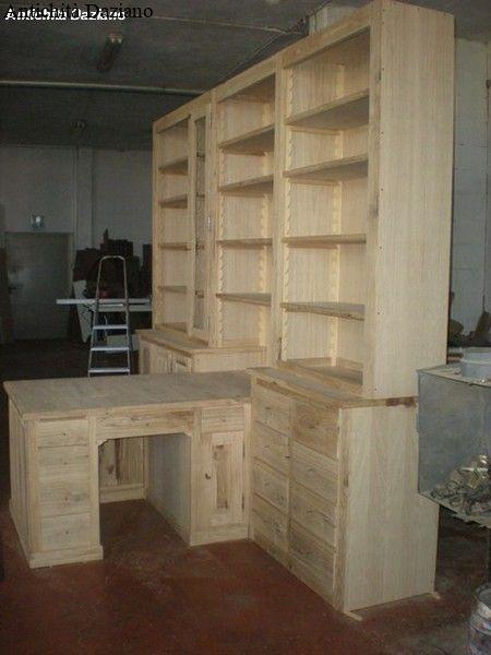 libreria con scrivania antichit daziano