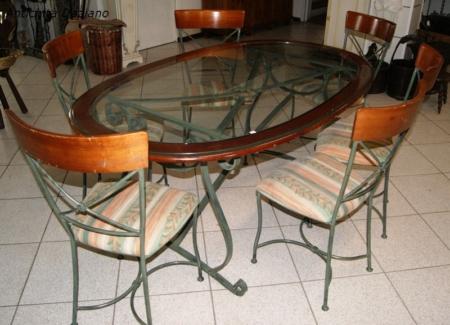 Tavolo ovale con