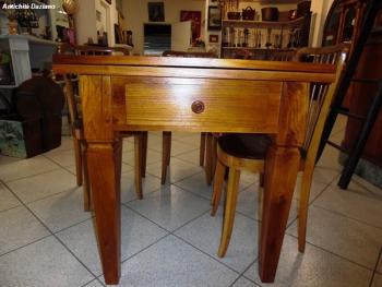 Tavolo rovere biondo stile Luigi XVI