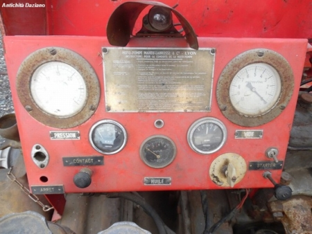Motopompa d' epoca - Dettaglio