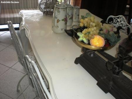 Tavolo laccato bianco