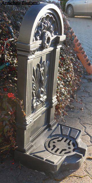 Fontana da muro in ghisa
