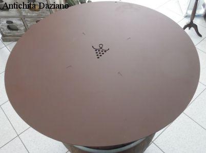 Tavolo botte piano in ferro - Dettaglio piano