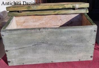 Cassapanca rustica - Vista aperta
