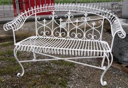 Set da giardino in ferro - Dettaglio divano