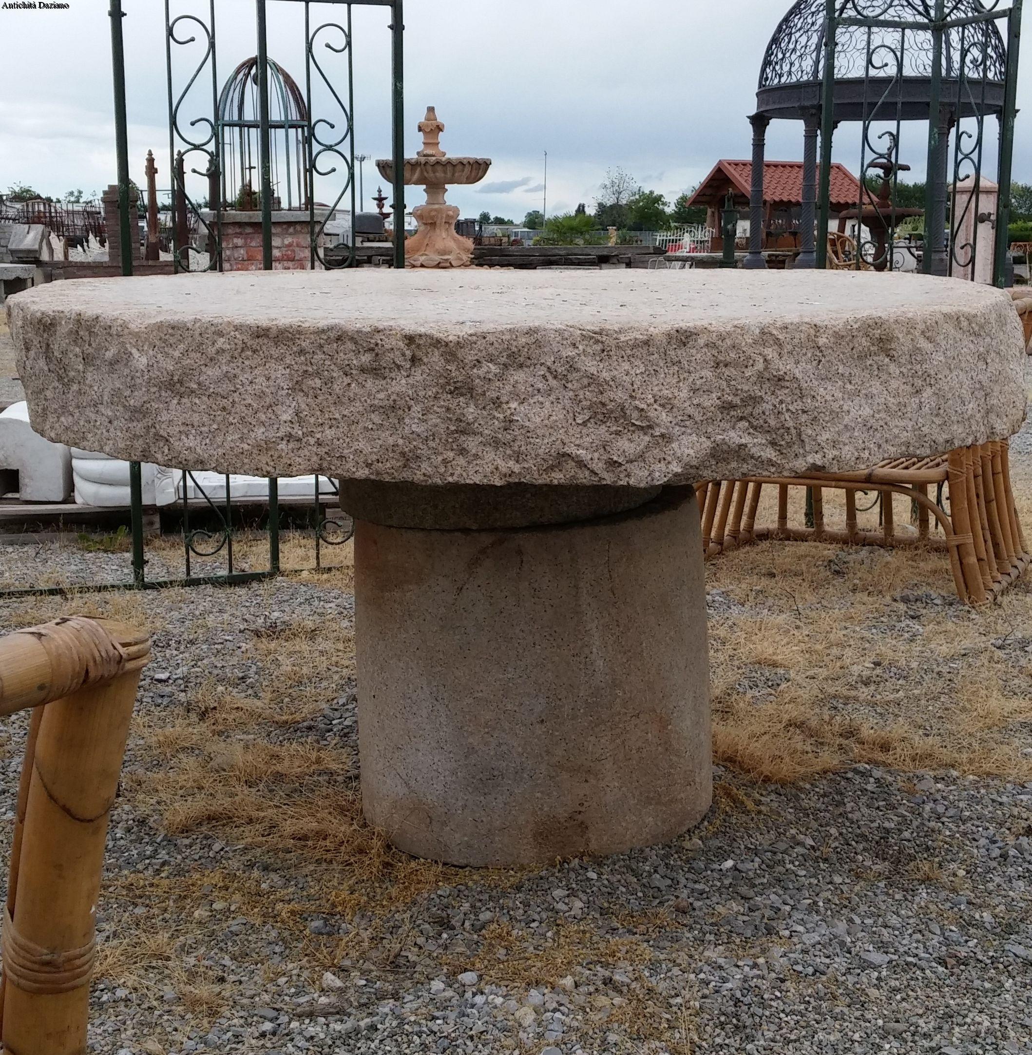 Tavolo composto da macine in pietra antiche | Antichità Daziano