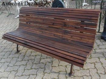 Panca in legno e ghisa