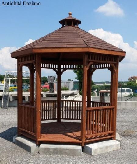 Gazebo ottagolane in legno