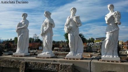 Statue quattro stagioni in marmo bianco