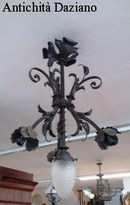 Lampadario antico - ferro battuto 4 luci