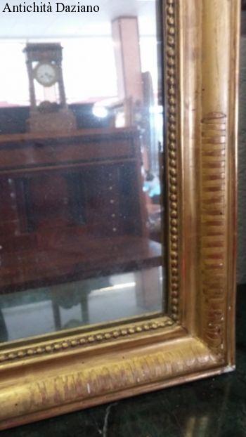 Specchio Luigi Filippo - foglia oro