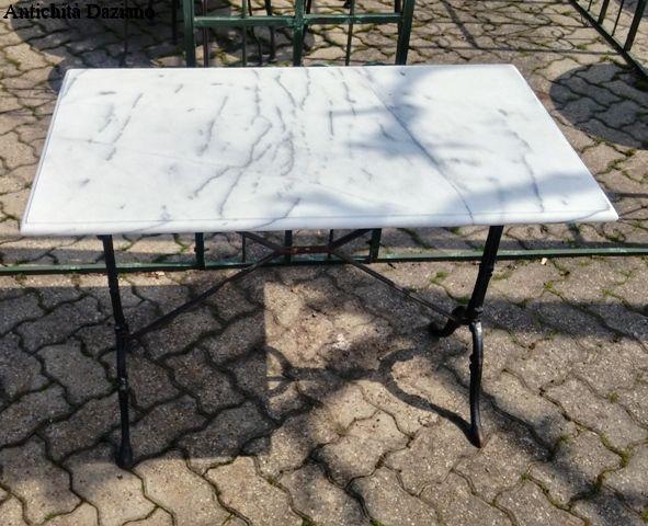 Basi In Ferro Per Tavoli Da Giardino.Tavolo Base In Ghisa Piano In Marmo Liberty Antichita Daziano