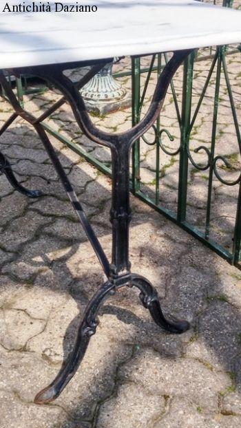 base in ferro piano in marmo