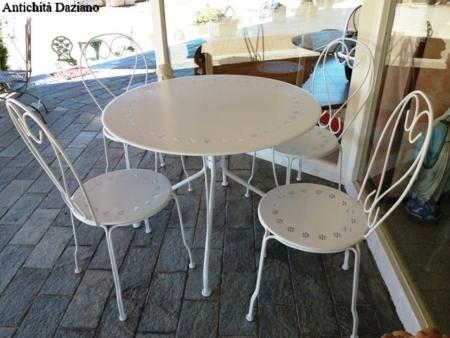 Set da giardino tavolo 95 cm