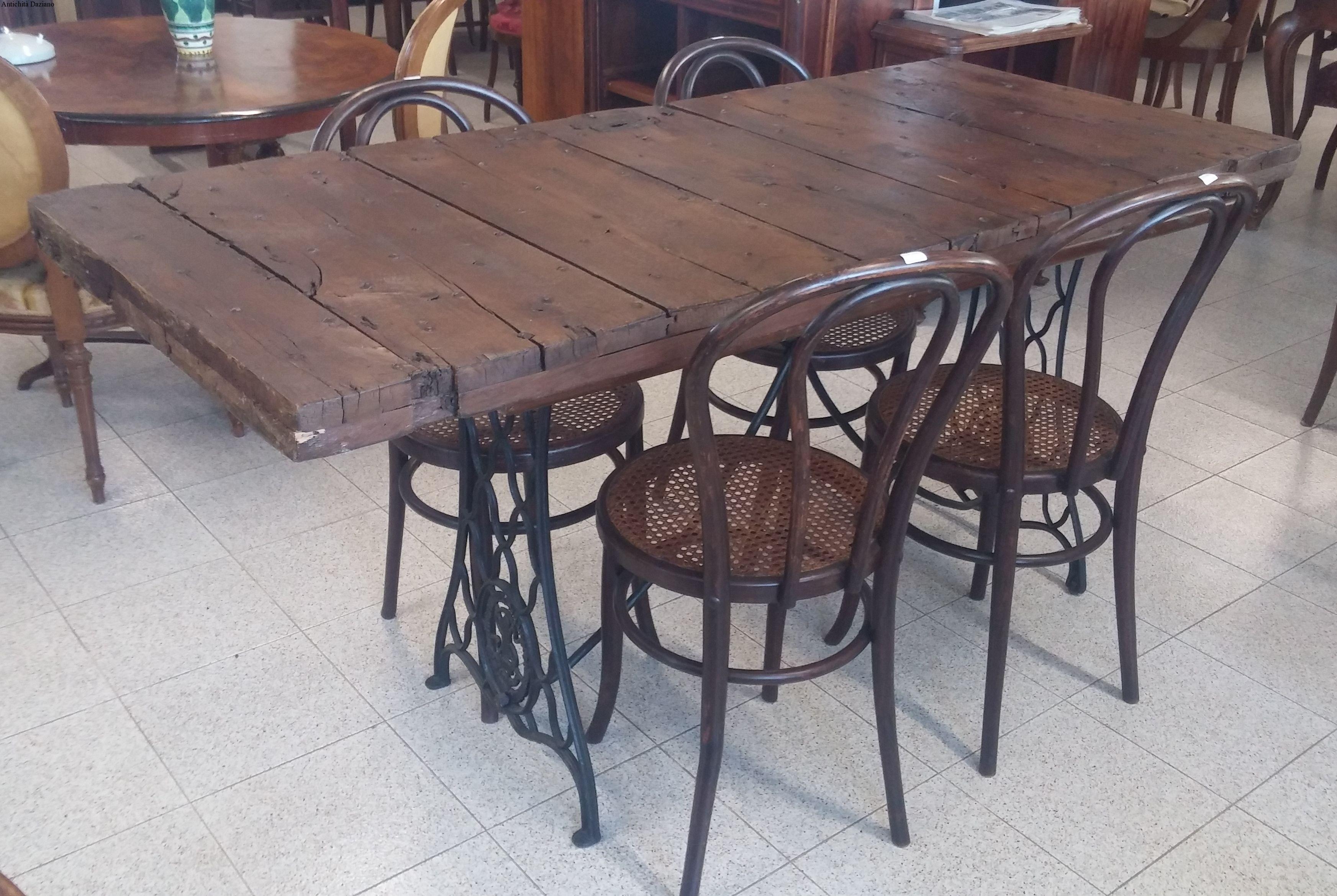 Tavoli Con Legno Di Recupero : Tavolo in legno da recupero antichità daziano