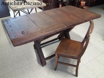 Tavolo in legno da recupero porta antica