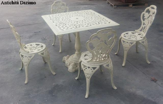 Sedie In Ghisa Da Giardino Prezzi.Tavolo E Sedie In Ghisa Antichita Daziano