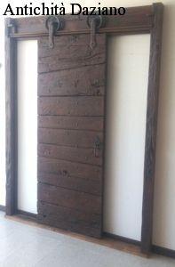 Porta rustica scorrevole