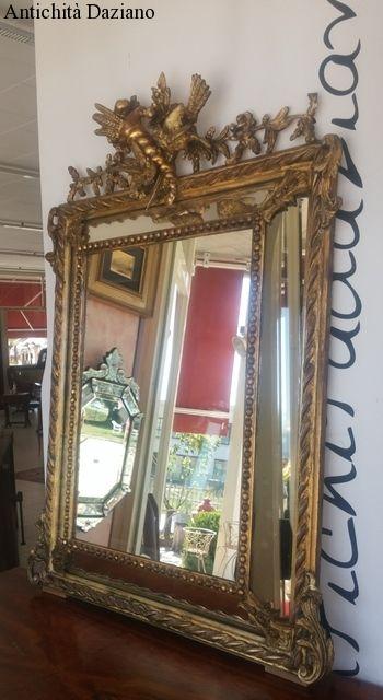 Specchiera in foglia oro '700