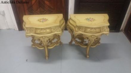 Coppia di comodini stile Barocco veneziano