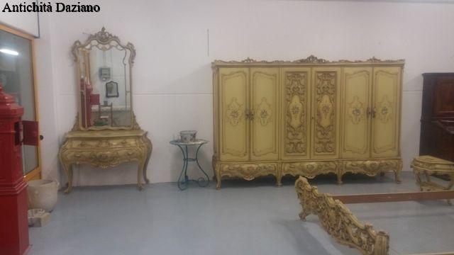 Camera da letto stile barocco veneziano antichit daziano - Letto stile veneziano ...