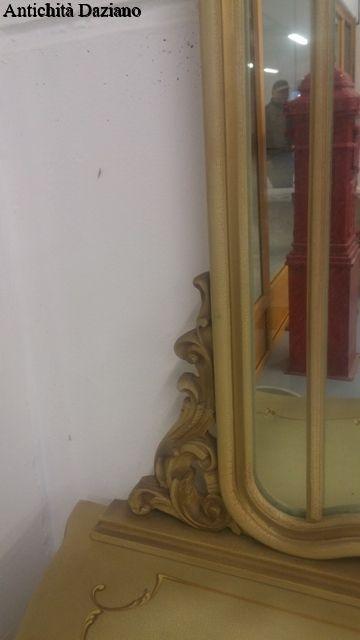 Como' con specchio stile Barocco veneziano