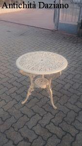 Tavolo in ghisa bianco Diametro 65 cm