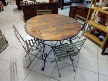 Tavolo rotondo legno+ferro