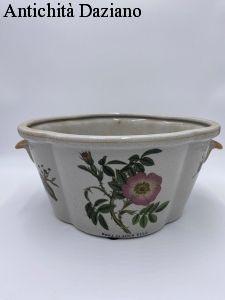 Caspò cachepot in ceramica cracklé