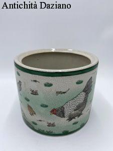 Ceramica vaso tondo in ceramica cracklé