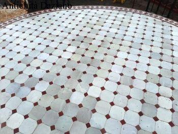 Tavolo rotondo mosaico