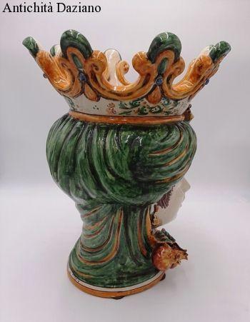 Ceramiche di Caltagirone Teste di moro Melograno