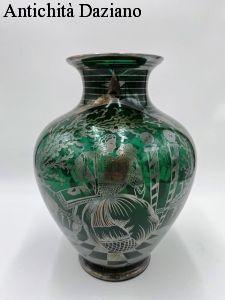 Vaso in vetro di Murano Liberty