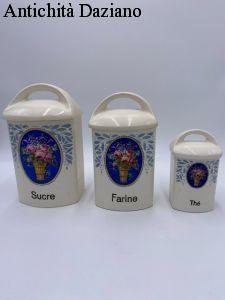 Trittico ceramica spezie primi 900