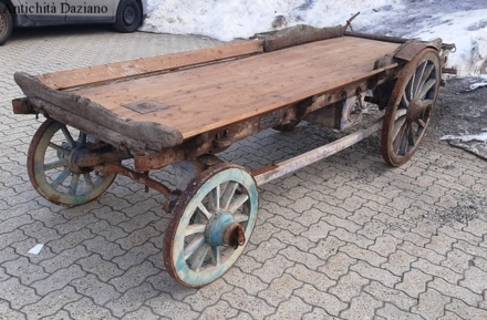 Carro in legno 4 ruote