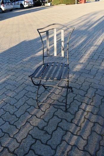 Sedia in ferro pieghevole